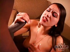 Slut sucks big black cock in hotel room tubes