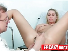 Medical exam for a young pussy tubes