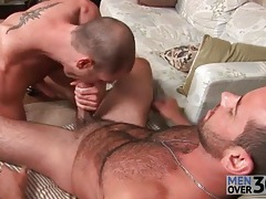Bear gets his dick and balls sucked lustily tubes