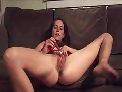 Skinny gf in red dress teases the camera tubes