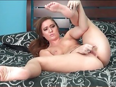 Young big ass beauty masturbates with a toy tubes