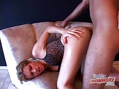 Slut lingerie on whore fucking a black cock tubes