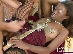 Harmony vision black slut takes on two white boys tubes