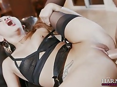 Asian in sexy lingerie fucked in her hot pussy tubes