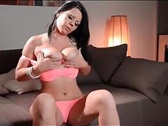 Girl gropes her big natural tits lustily tubes
