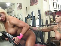 Dani andrews and megan avalon muscle lesbians tubes