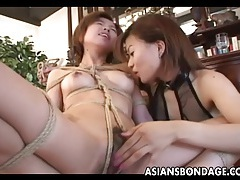 Dreamy japanese gal finger banged by her mistress tubes