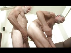 Grey haired gay daddies in anal fuck video tubes