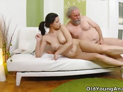 Irene is craving to have anal sex with old man tubes