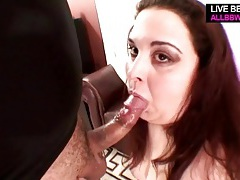 Bbw cutie in big earrings sucks dick lustily tubes