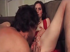 Skinny girl sits on his cock for a hot ride tubes