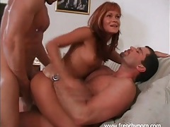 Tight young redhead double penetrated deep tubes