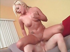 Firm young body on hot cock riding blonde tubes