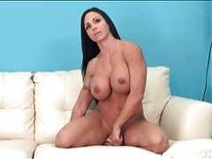 Fit milf sits her hot cunt on a dildo tubes