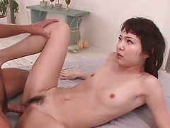 Teen japanese girl in pigtails fondled sensually tubes