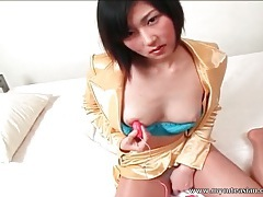 Pretty asian in blue panties masturbates solo tubes