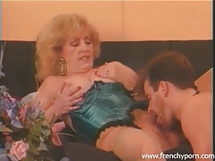 Granny in naughty corset fucked by stiff dick tubes