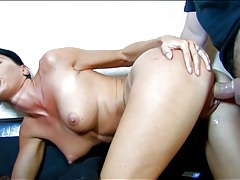 Perky tits and gorgeous lips on a doggystyle slut tubes