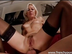 Black stockings are sexy on ass fucked blonde tubes