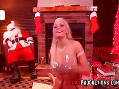 Christmas doggystyle fuck with curvy blonde girl tubes