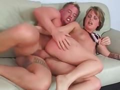 Deepthroat cocksucking hottie fucked in the ass tubes