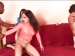 Slutty girls suck big cocks in group sex video tubes