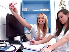 Lesbian foreplay with two gorgeous nurses tubes