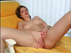 Seductress drops her robe and masturbates sensually tubes