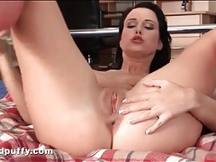 Teen toy sex fills her tight asshole tubes