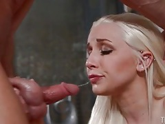 Stevie shae deepthroat blowjob with gagging tubes