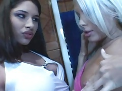 Luscious lesbian foreplay with two gorgeous girls tubes