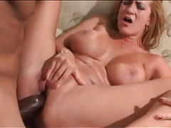 Sweaty interracial anal sex with busty mom tubes