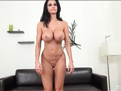 Fit milf ava addams fondles huge tits on camera tubes