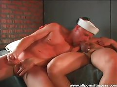 Sailor and army guy suck cock together tubes