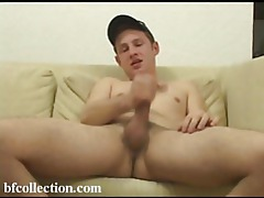 Cute young guy jerks off and hopes to make a cumshot tubes