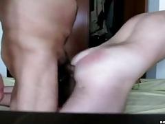 Big bareback cock mounts the ass and fucks it tubes