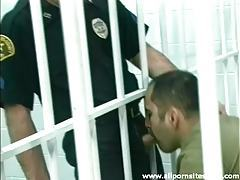 Cop blown by a dude in the jail cell tubes