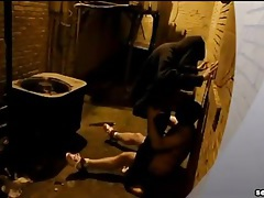 Face fucking a gay bottom in the alley tubes
