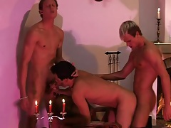 Spit roasted gay bottom in bareback video tubes