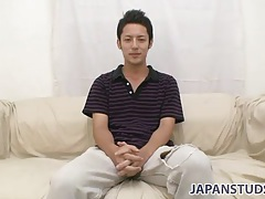 Cute japanese guy cums hard in his solo video tubes