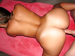 Naughty girl banged from behind tubes