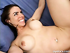 Busty latina rammed hard by her new friend tubes