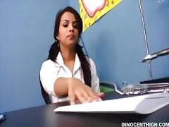 Latina teen schoolgirl has a crush on her teacher tubes