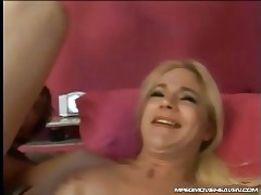 Blonde whore opening her ass tubes