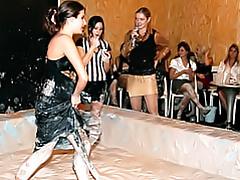 Messy girls playing tubes
