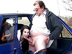 Teen sex in a car tubes