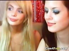 Hot lesbians fuck on their webcam tubes