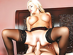 Busty blonde bouncing tubes
