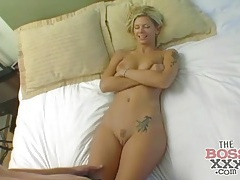 Gorgeous brooke banner strips and sucks dick tubes