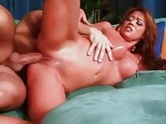 Sexy slut with fake titties rides his hard dick tubes
